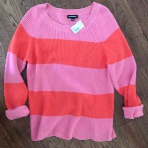 """""""Repeat"""" brand striped sweater with scalloped hem"""